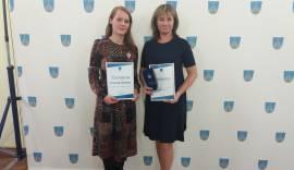 Põhja- Tallinna Aasta lasteaiaõpetaja tunnustatud nominent Karola ja Põhja- Tallinna Aasta haridusjuht 2017 Aime